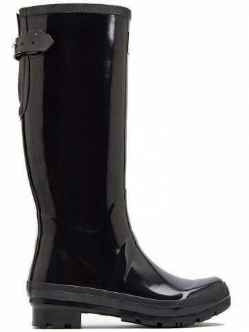 Joules Field Welly Gloss Black