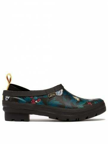 Joules Pop On Welly Clogs Black Butterfly