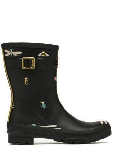 Joules Molly Short Welly Black Bugs