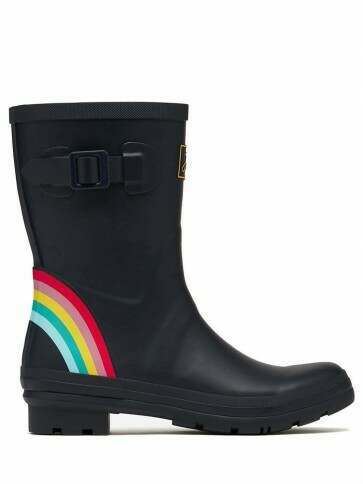 Joules Molly Short Welly Navy Rainbow