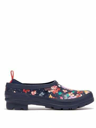 Joules Pop On Clogs Navy Blossom Spot