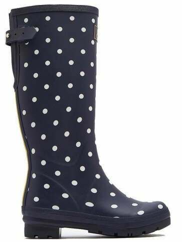 Joules Printed Wellies French Navy Spot