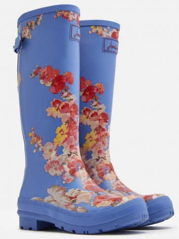 Joules Blue Floral Printed Wellies