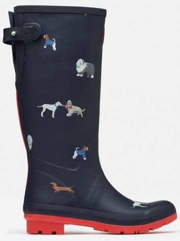 Joules Printed Wellies Mayday Dogs