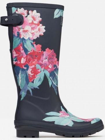 Joules Printed Wellies Navy Floral