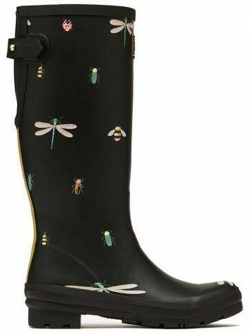 Joules Welly Black Bugs