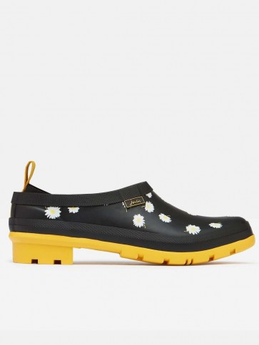 Joules Pop On Welly Clogs Black Daisy
