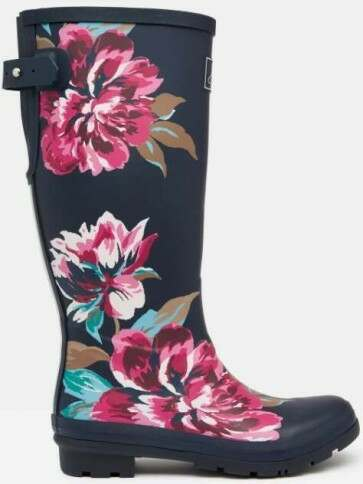 Joules Welly Navy All Over Floral