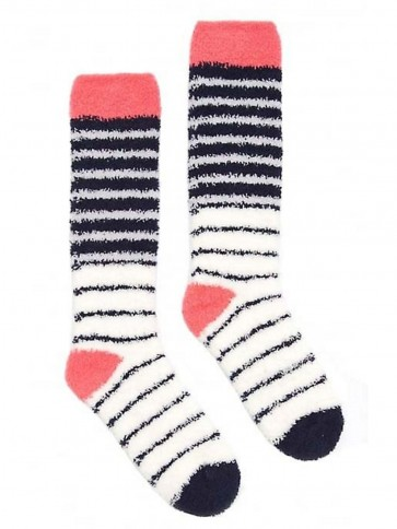 Joules Fab Fluffy Supersoft Socks French Navy (Size 4-8)