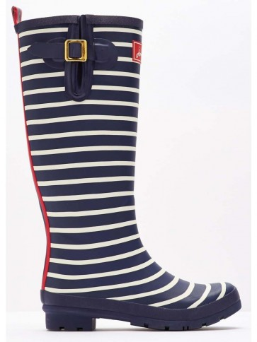 Joules French Navy Stripe Welly
