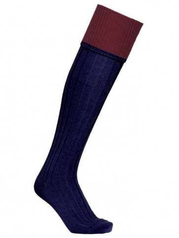 Premium Lambswool Sock Deepsea/Rose