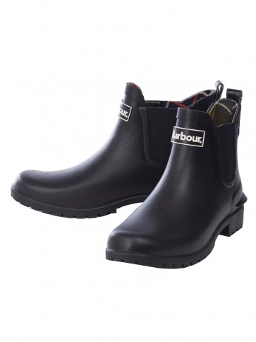 Barbour Wilton Women's Chelsea Style Welly Black