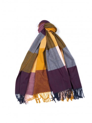 Barbour Pastel Check Scarf Golden