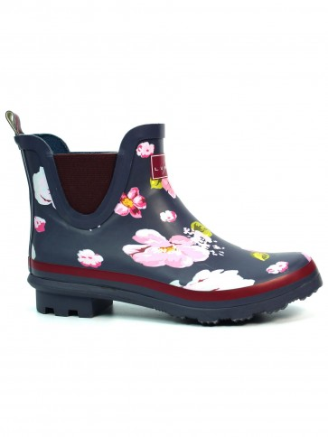 Lunar Azure Floral Ankle Boot