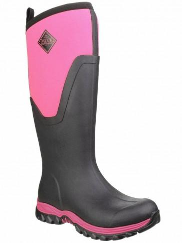 Muck Boots Women's Arctic Sport II Tall Black/Hot Pink