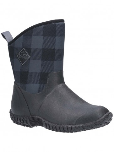 Muck Boots Women's Muckster II Mid Black/Grey Plaid