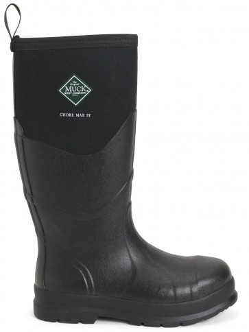 Muck Boots Chore Max S5 Steel Toe Black