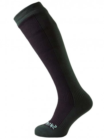 SealSkinz Hiking Mid Knee Black/Racing Green Socks
