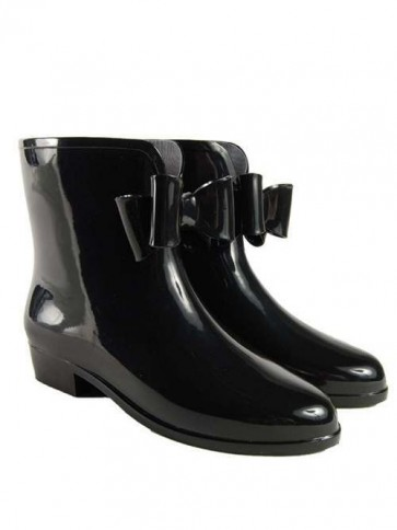 Splash Black Bow Chelsea Boot