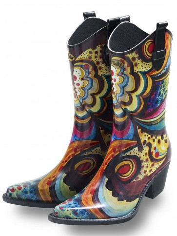 Talolo Floral Bliss Cowboy Welly