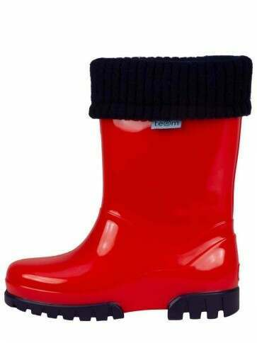 Term Childrens Rolltop Welly Red