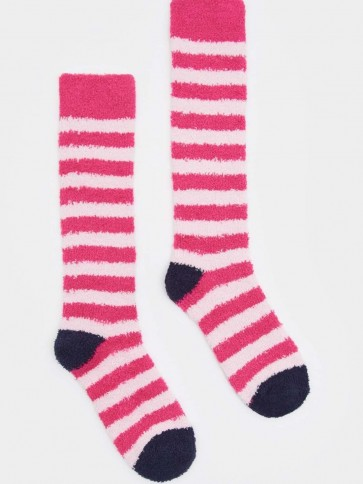 Joules Fab Fluffy Socks True Pink