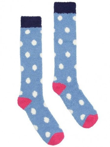 Joules Fab Fluffy Socks Light Blue