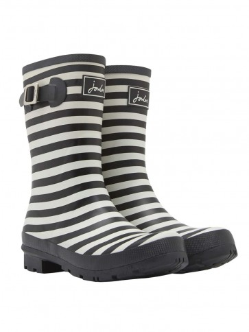 Joules Molly Welly Black Stripe