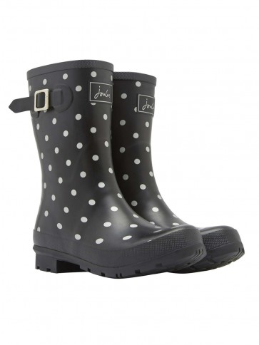 Joules Mid Molly Welly Silver Spot