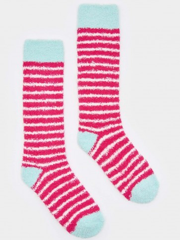 Joules Fab Fluffy Supersoft Socks Cerise Pink (Size 4-8)