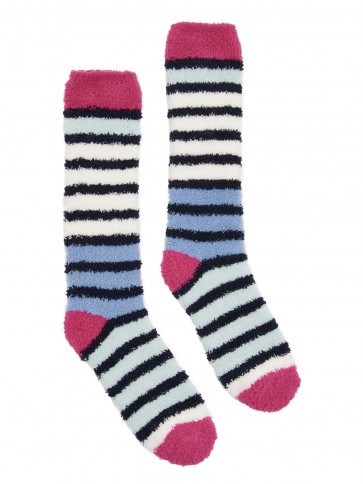 Joules Supersoft Fluffy Socks Multi Stripe 4-8