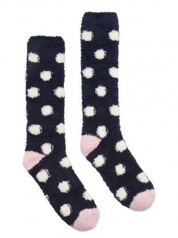 Joules Fabulously Fluffy Supersoft Socks Navy Spot