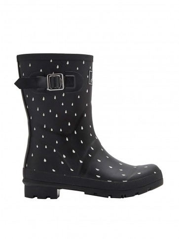 Joules Short Molly Welly Black Rain