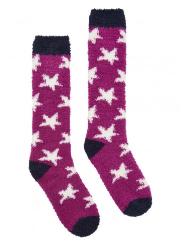 Joules Fabulously Fluffy Supersoft Socks Fuschia Pink