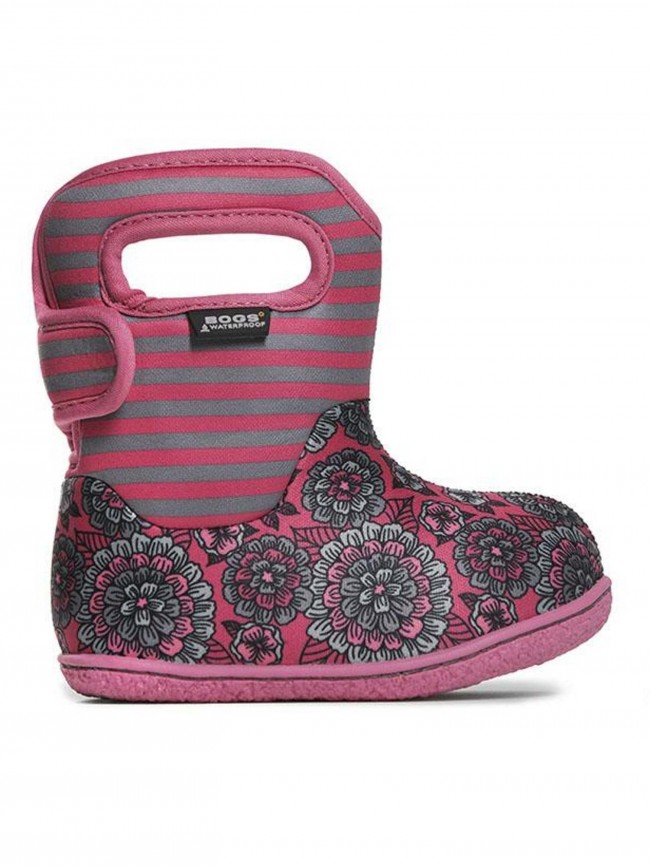 Pick SZ//Color. Bogs Baby Pansy Stripe Snow Boot