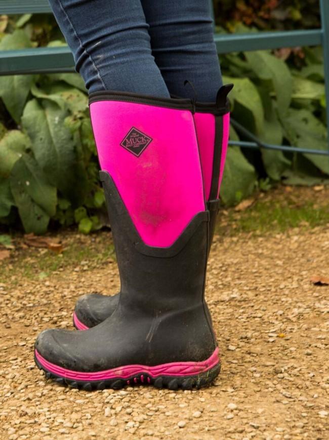 Muck Boots Arctic Sport Ii Tall Black Hot Pink