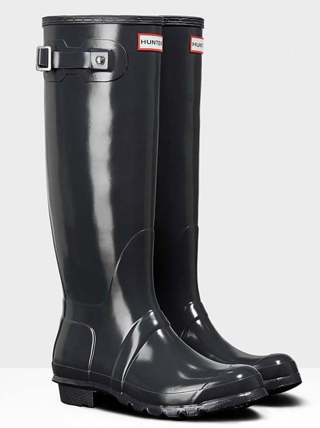 Hunter Original Gloss Dark Slate Wellington Boots
