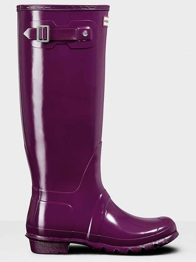 Hunter Original Gloss Violet Wellington Boots