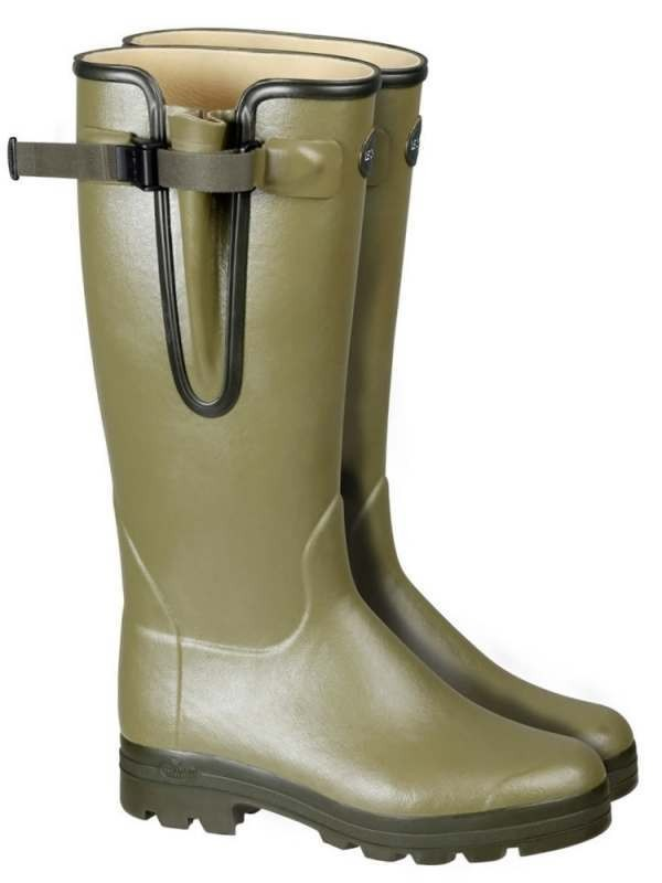 Le Chameau Vierzon Lady Leather Wellington Boot Green