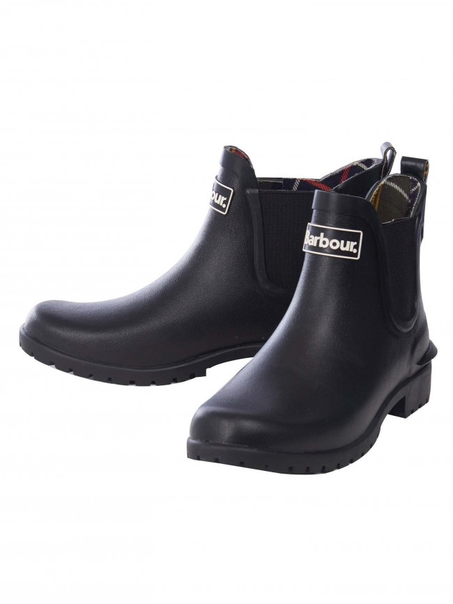Barbour Black Wilton Chelsea Style Welly