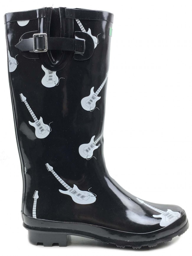 Guitar Wellies Guitar Print Festival Wellies By Welly