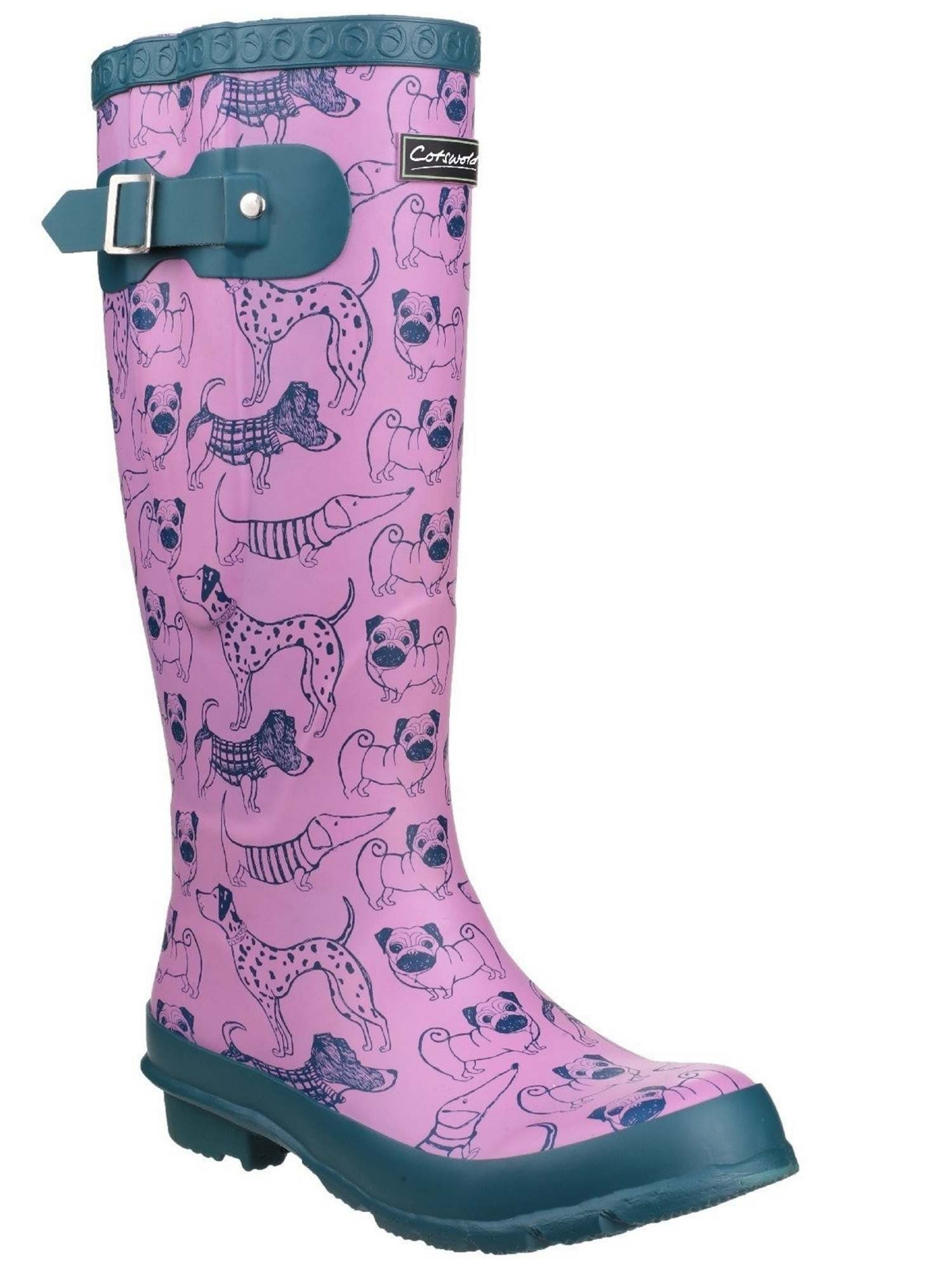 Cotswold Windsor Dog Print Printed Wellies Women