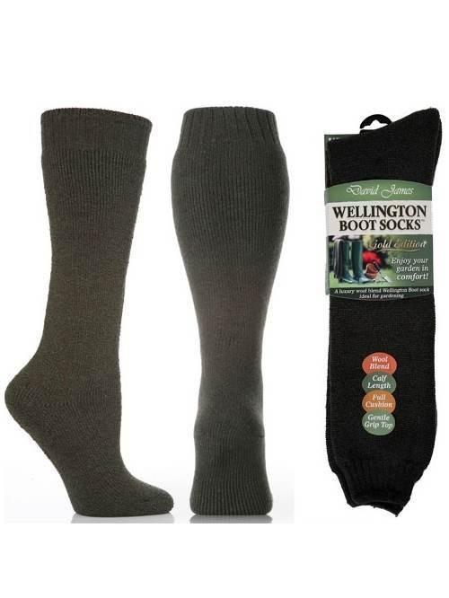 David James Women S Gold Edition Wool Blend Welly Socks