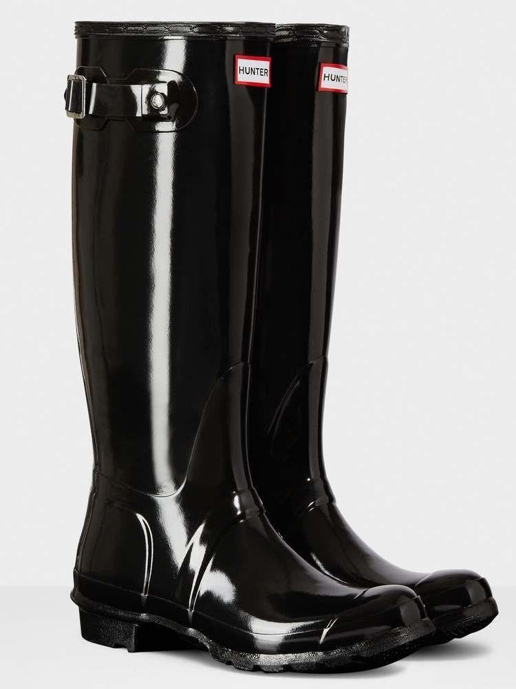 Hunter Women S Original Black Gloss