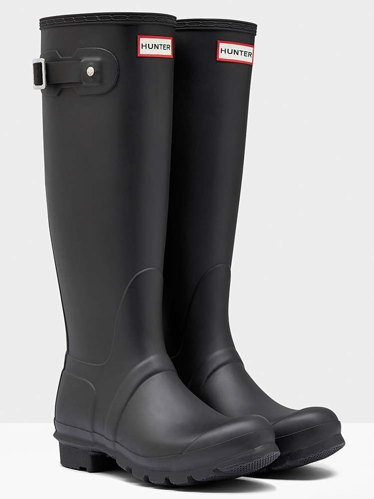 Hunter The Original Tall Matt Black Wellingtons Wellies