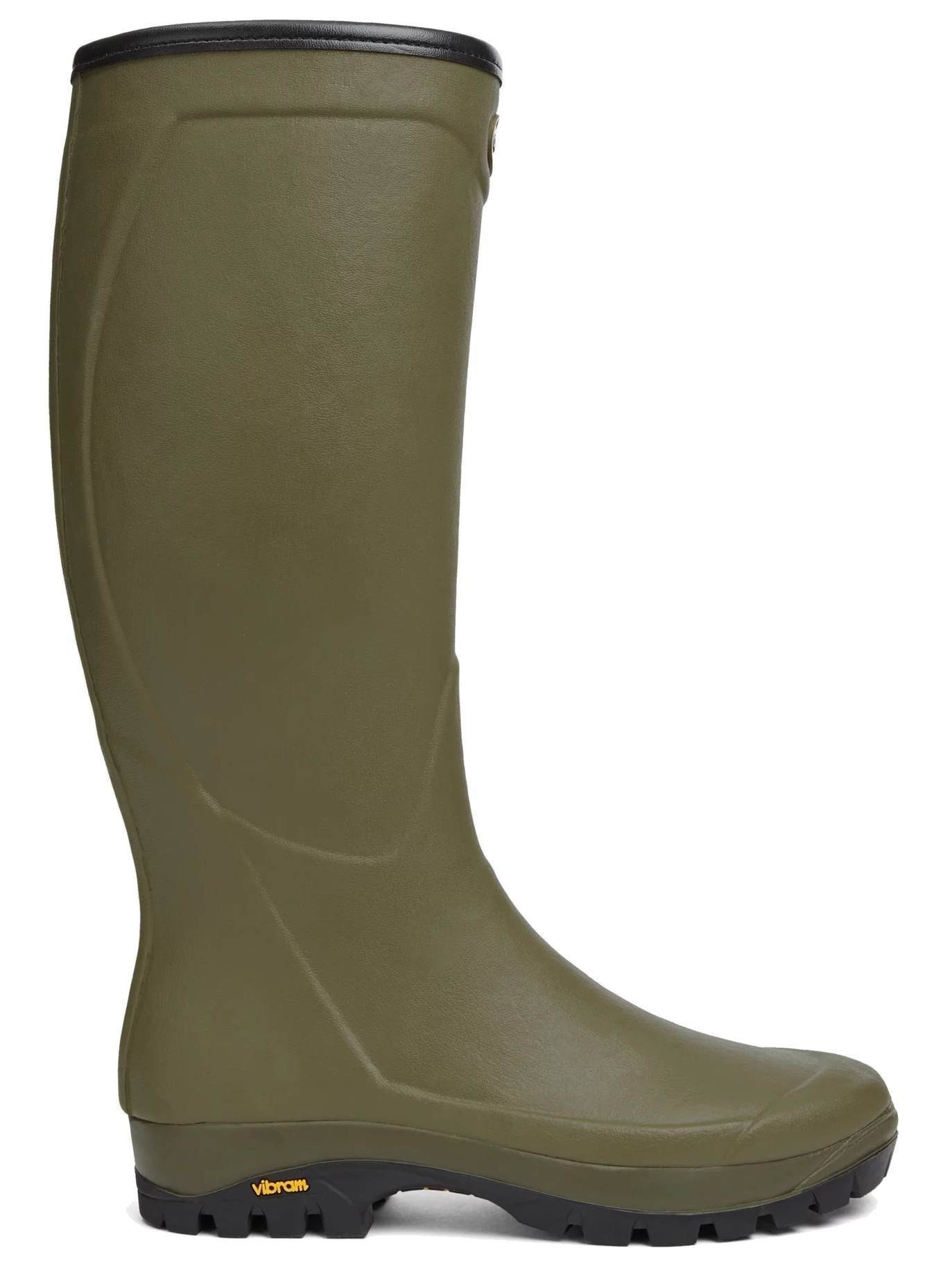 Le Chameau Unisex Country Vibram Wellington Boots Green