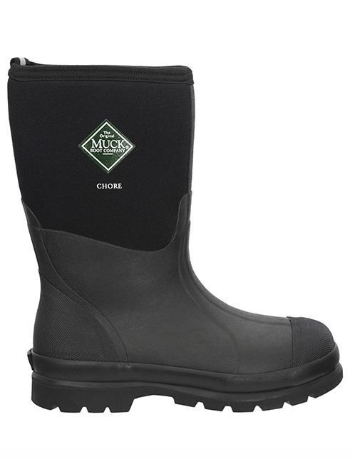 Muck boots chore mid black for Bogs classic mid le jardin