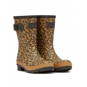Joules Molly Welly Tan Leopard