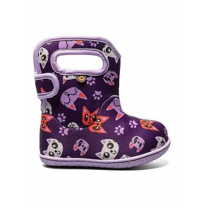 Baby Bogs Kitties Wellies Purple Multi