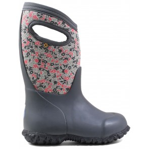 Bogs York Freckle Flower Wellingtons Grey Multi